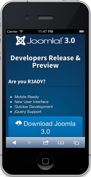 joomla3.0 Stable Official iPhone Layout